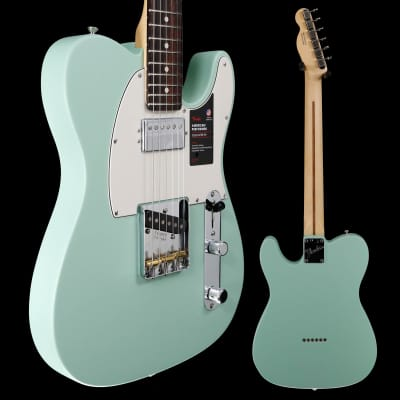 Fender American Performer Telecaster Hum, Rosewood fb,  Satin Surf Green 610 7lbs 14.4oz for sale