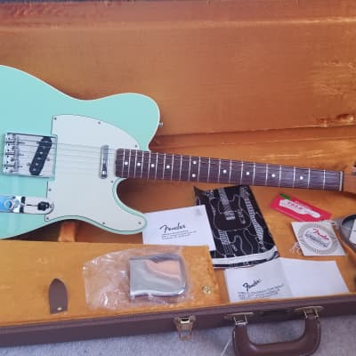 Fender American Vintage '62 Telecaster Custom 2009 Seafoam Green; OHSC; USA for sale