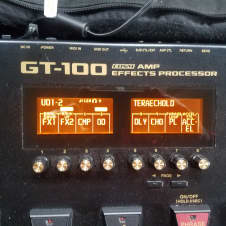 Boss GT-100 with Boss Carrying Case and FS6 Foot Pedal Amp Modeler, Effects unit