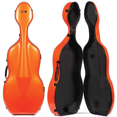 Galaxy Audio Galaxy Quasar 600SL Orange Cello Case with Gray Interior for sale