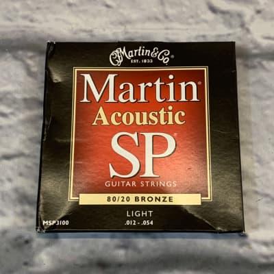 Martin MSP3100 SP 80/20 Bronze Light 12-54 Acoustic Guitar Strings
