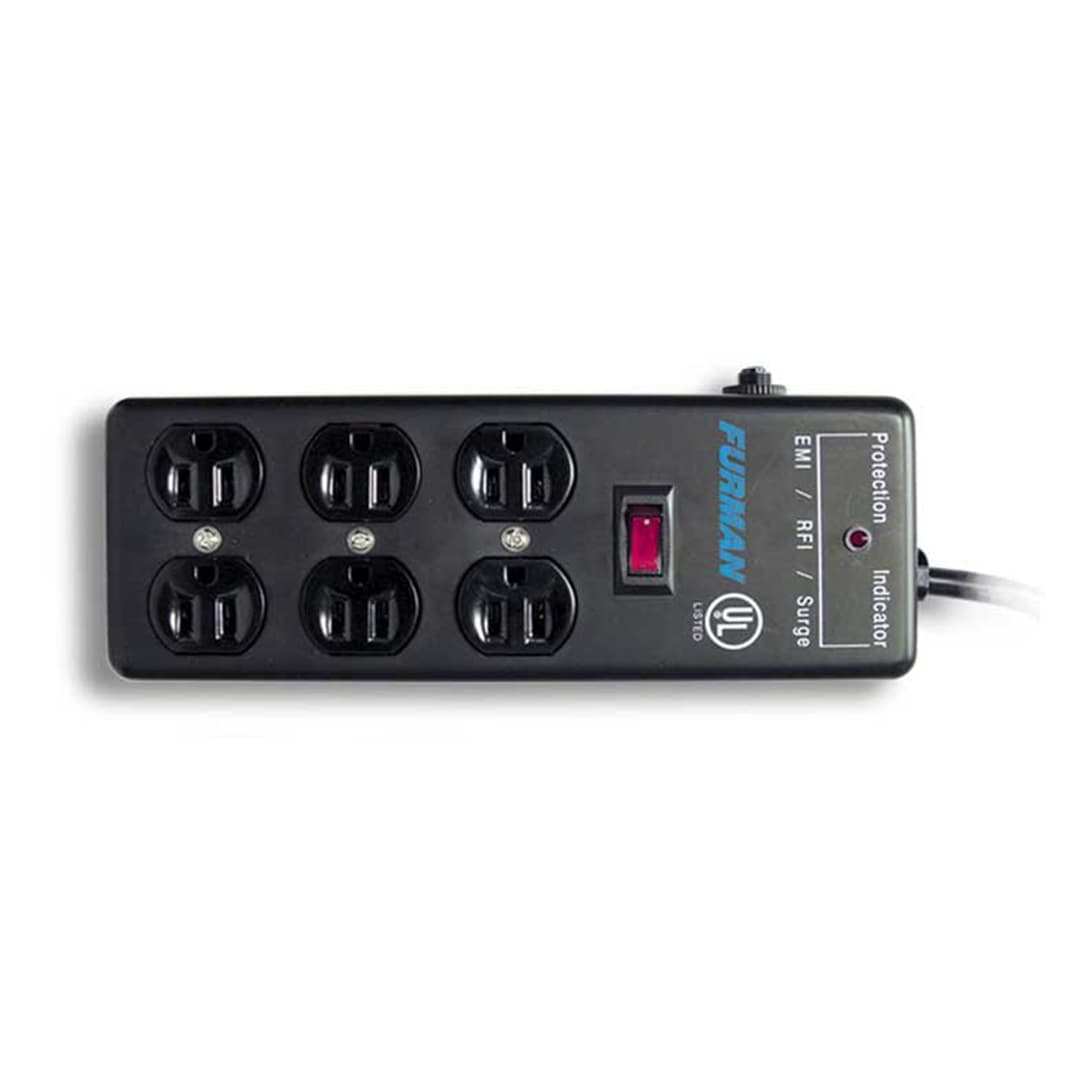furman ss6b surge block w 6 ac outlets 15 ft cord reverb. Black Bedroom Furniture Sets. Home Design Ideas