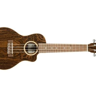 Lanikai FBCET-C Figured Bocote Thin Body Concert Acoustic-Electric Ukulele for sale