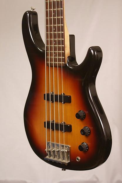 fender mb 5 sunburst crafted in japan 5 string electric bass reverb. Black Bedroom Furniture Sets. Home Design Ideas