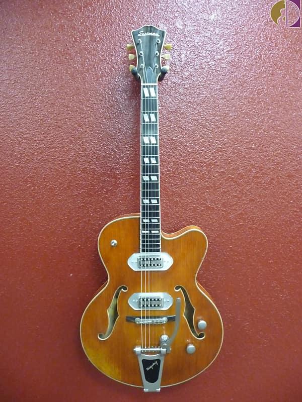 Eastman T58/V-AMB Amber Finish, Solid Archtop Guitar w/Hardcase image