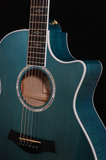 taylor guitars 614ce grand auditorium acoustic in koi blue w reverb. Black Bedroom Furniture Sets. Home Design Ideas