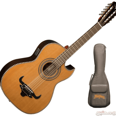 Oscar Schmidt OH32SE Acoustic-Electric Bajo Quinto with Free Deluxe Gig Bag
