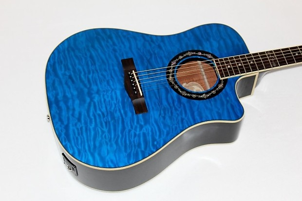 Description Shop Policies Fender T Bucket 300 CE Cutaway Acoustic Electric Dreadnought Guitar Transparent Blue