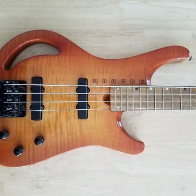 1988 Roscoe LG Monkey Grip Flame 4 String Bass. for sale