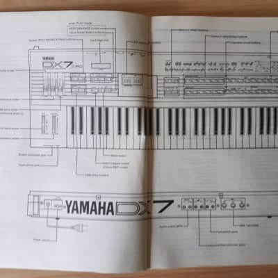 Yamaha DX7 ll.FD/D Digital Programmable Algoritm Synthesizer Owners Manual  in English/German/French