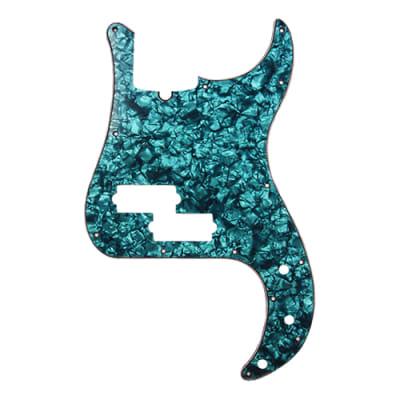 D'Andrea 4-Ply 13-Hole Precision P Bass Pickguard Aqua Pearl for sale