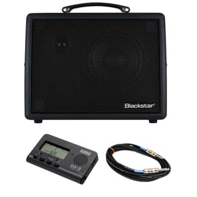 """Blackstar Sonnet 60 Black Amp Bundle with Korg GA2 Guitar Tuner & 15-foot 1/4"""" Instrument Cable"""