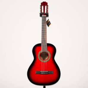 Beaver Creek BCTC601RB 3/4 Size Classical Acoustic Guitar BCTC 601 RB (Red/Redburst) for sale