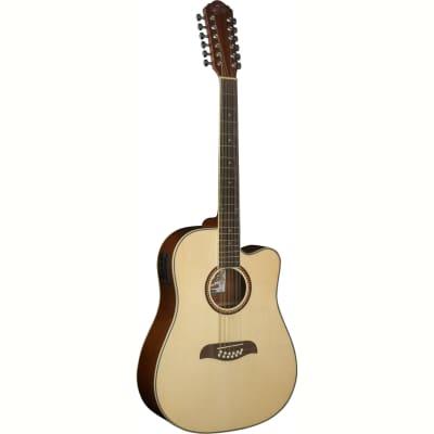 Oscar Schmidt OD312CE 12-String Cutaway Acoustic Electric Guitar, Natural for sale
