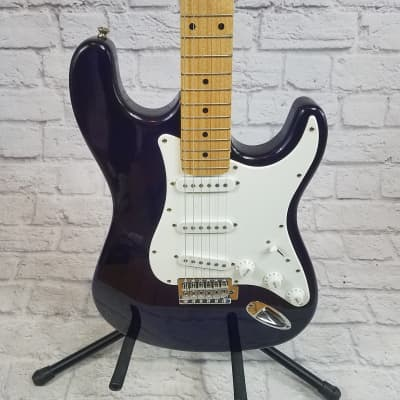 Eleca CGT-1-P Strat Style Electric Guitar - Black for sale