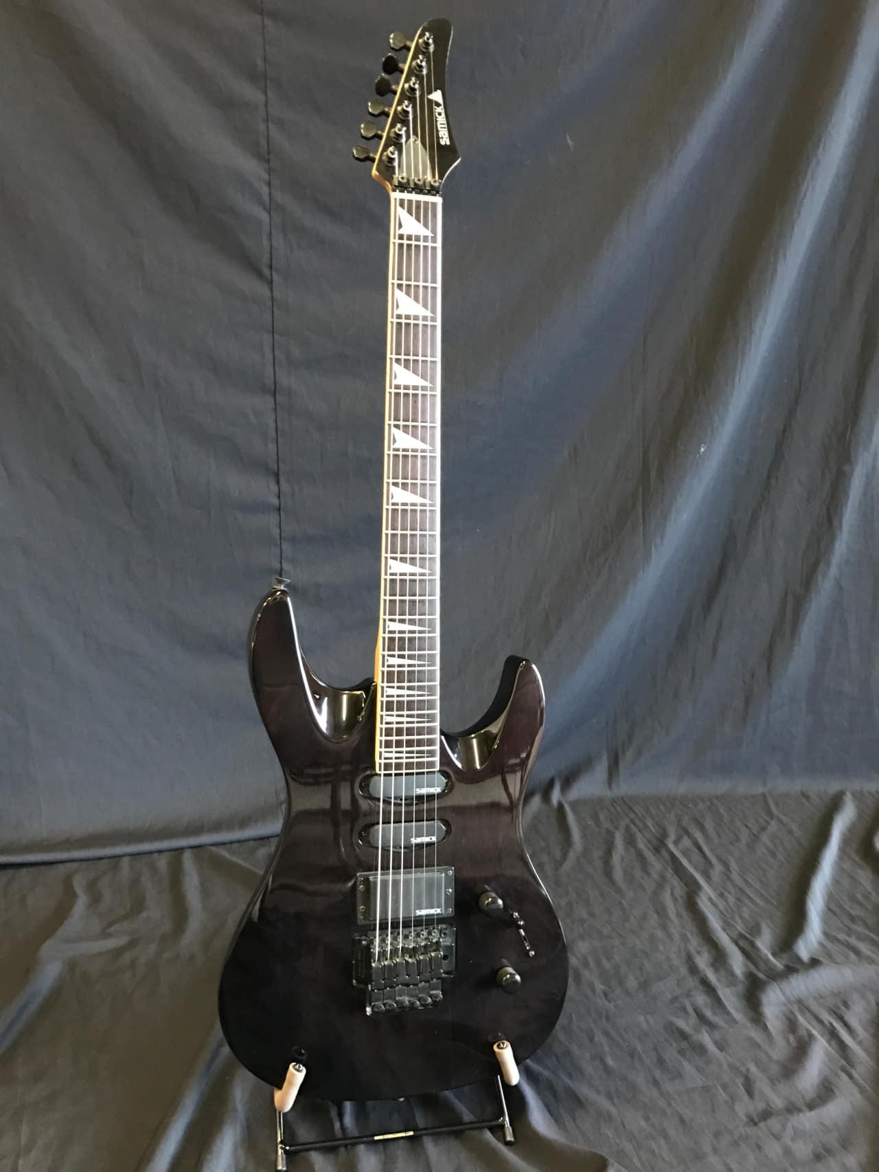 Direct Auto Sales >> Samick 1994 Floyd Rose Korean Guitar Trans Black | Reverb
