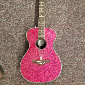 Daisy Rock Pixie Acoustic Pink Sparkle for sale