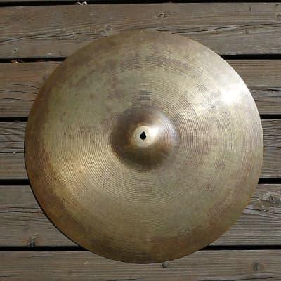 "A. Zildjian 20"" Hollow Logo Deep Ride Cymbal 1978 - 1982"