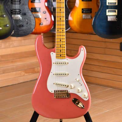 Fender Custom Shop Limited Edition W19 Vintage Custom '57 Stratocaster Journeyman W/CC Maple Neck Faded/Aged Fiesta Red for sale