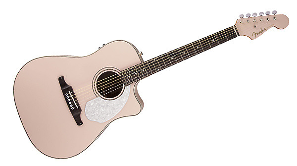5b8783dec0 Fender Sonoran SCE Acoustic Electric Guitar in Shell Pink - w/Warranty -  Authorized Fender Dealer
