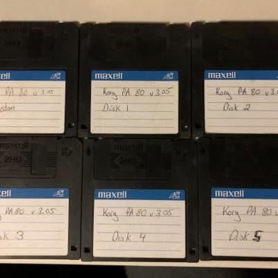 Korg PA-80 Version 3.05 Six Disk Set