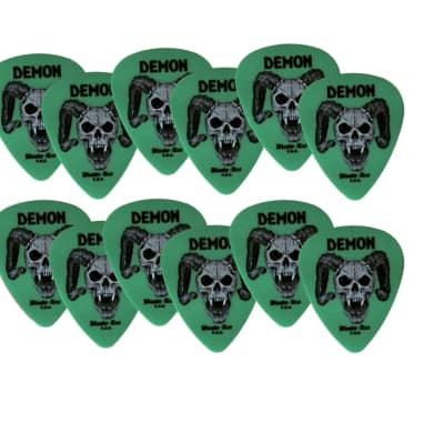 Guitar Picks 12 Pack DEMON .88mm Green made from Delrin in the USA