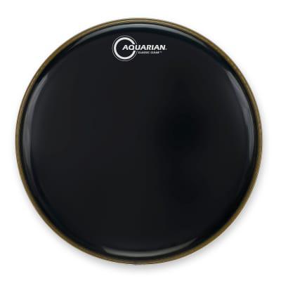 Aquarian Classic Clear Gloss Black Drumhead 10 in