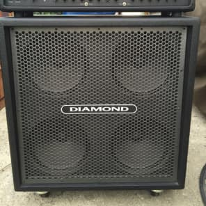 Diamond Phantom Amplifier Black with matching 4x12 Straight Cabinet for sale