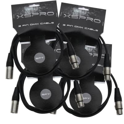 XSPRO XSPDMX3P5 3 Pin DMX Light Cable 5' - 4PAK