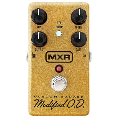 MXR M77SE Badass Overdrive Special Edition Gold Sparkle Effects Pedal