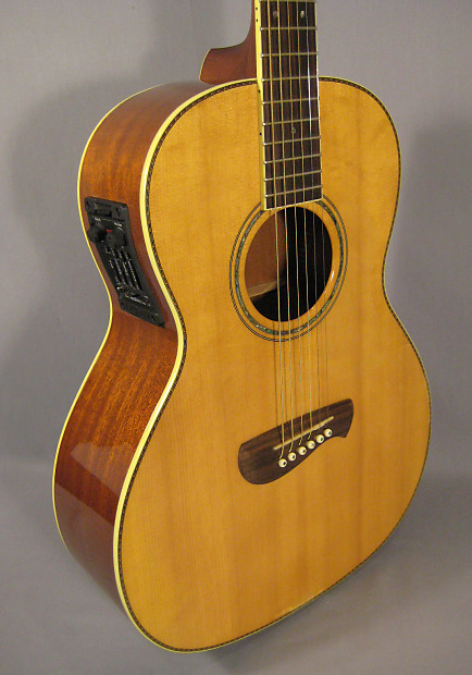 tacoma pm 20e parlor acoustic electric guitar w fishman reverb. Black Bedroom Furniture Sets. Home Design Ideas
