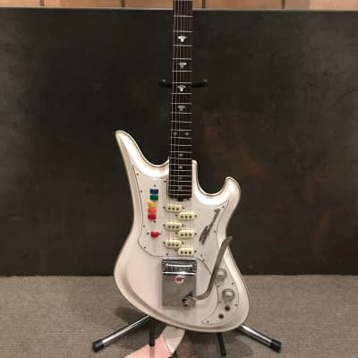 Teisco Spectrum 5 1997 White with Pink Sparkle for sale