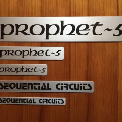 "Replacement nameplate set (#2,#3,#4 & #5) for Sequential Circuits ""Prophet-5"" Rev. 3"