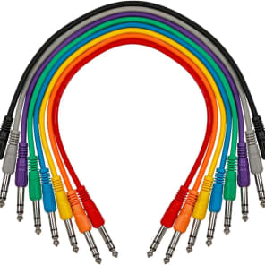 Pedal Patch Cable Livewire TRS-TRS Straight to Straight 8 Pack 17 Inch Free 2 Day Shipping
