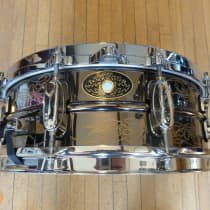"""Tama Kenny Aronoff 5x14"""" Trackmaster Engraved Brass Snare image"""
