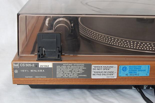 Dual Turntable 505 2 Germany Nice Wood Base 1 Owner Works