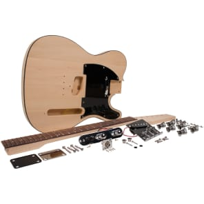Seismic Audio SADIYG-03 Premium Tele-Style DIY Electric Guitar Kit w/ Basswood Body