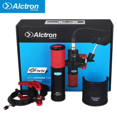 ALCTRON CS55-R:LARGE CAPSULE,CONDENSER MICROPHONE W/MOUNT+POP FILTER, QUALITY