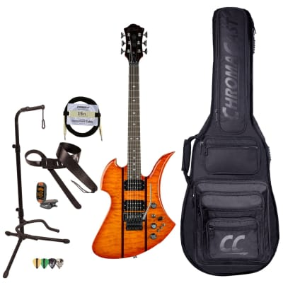 BC Rich Guitars Mockingbird Legacy ST Electric Guitar with Floyd Rose, Case, Strap, and Stand, Honey Burst for sale