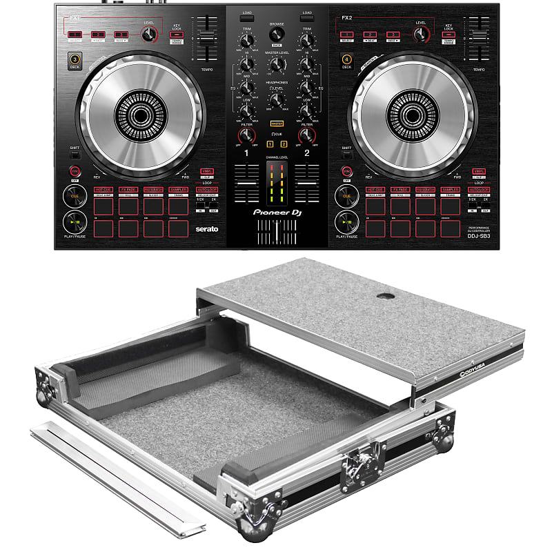 Pioneer DJ DDJ-SB3 Portable 2-Channel Serato DJ Lite Controller with  Odyssey FZGSDJC1 DJ Carrying Ca