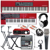 Nord Piano 3 & Lead 4 Package (Quik Lok Double Tier Stand, Behringer 1002 Mixer, CAD D89)