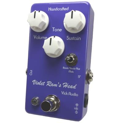 Vick Audio Violet Ram's Head Fuzz Effects Pedal