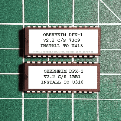 Oberheim DPX-1 OS v2.2 EPROM Firmware Upgrade KIT