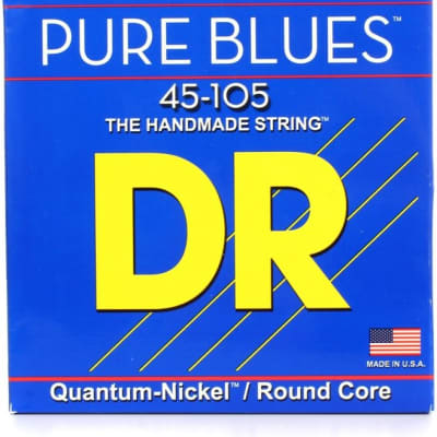DR PB-45 Pure Blues Quantum-nickel Bass Strings - .45-.105