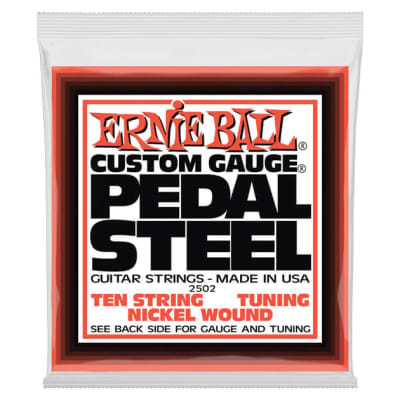 Ernie Ball 2501 10-String C6 Pedal Steel String Set, Nickel 12-66