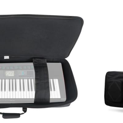 Rockville 61 Key Padded Rigid Durable Keyboard Gig Bag Case For CASIO CTK-2550