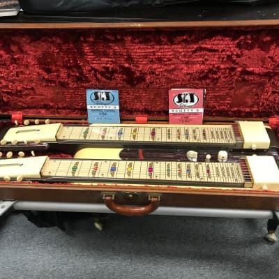 National Grand Console Double Neck Lap Steel Guitar  Tan/brown for sale