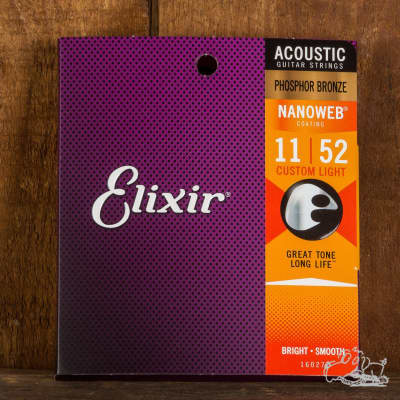 Elixir Phosphor Bronze Acoustic Guitar Strings - 11's
