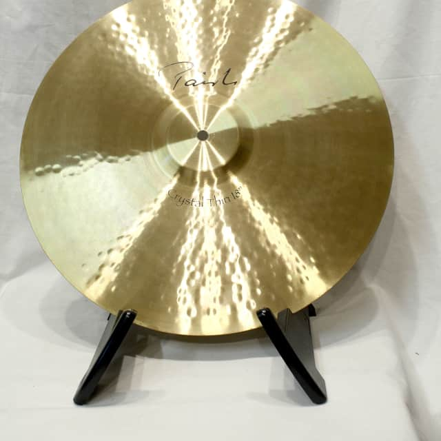 "Paiste 18"" Signature Crystal Thin Crash Cymbal NOS Display Unit image"