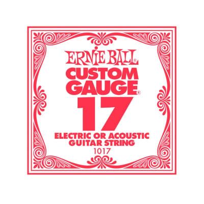 Ernie Ball 17 Single Plain Electric/Acoustic Guitar String